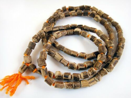 Hare Krishna TULSI MALA Hand Knotted Necklace Tulasi Japa Mala 108+1 8mm Beads