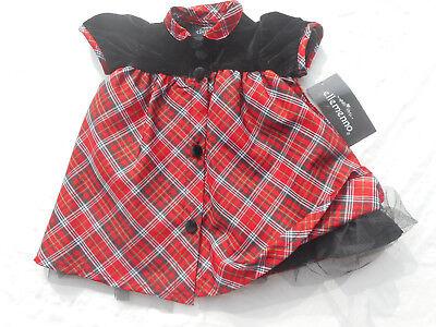 Mädchen Taufe Kleid (TAUFE KLEID festliches Mädchenkleid mit Samt und Petticoat Gr 62/68 NEU)