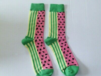 Men's Watermelon Design Dress / Casual Socks Size Large Fit Shoe Sizes 7.5 - 12 (Shoe Design Socks)