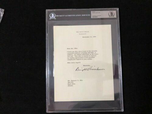 President Dwight D. Eisenhower Typed White House Letter Signed BAS BECKETT