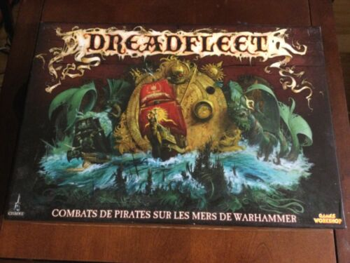 Warhammer Dreadfleet boxed game Assembled and Primed nice condition FRENCH set