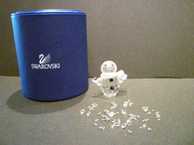 "SWAROVSKI CRYSTAL ""LITTLE SNOWMAN"" 624572 CHRISTMAS, NIB GREAT GIFT!"