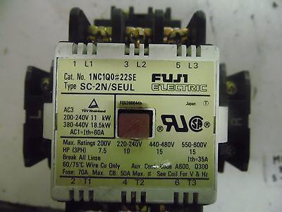 110 Volt Coil No New Fuji Electric Contactor Type: SC-0 SC13AA 3-pole Cat