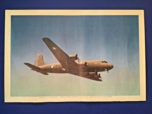 DOUGLAS C-54 SKYMASTER COMBAT MILITARY TRANSPORT AIRCRAFT WWII ART PRINT 1944