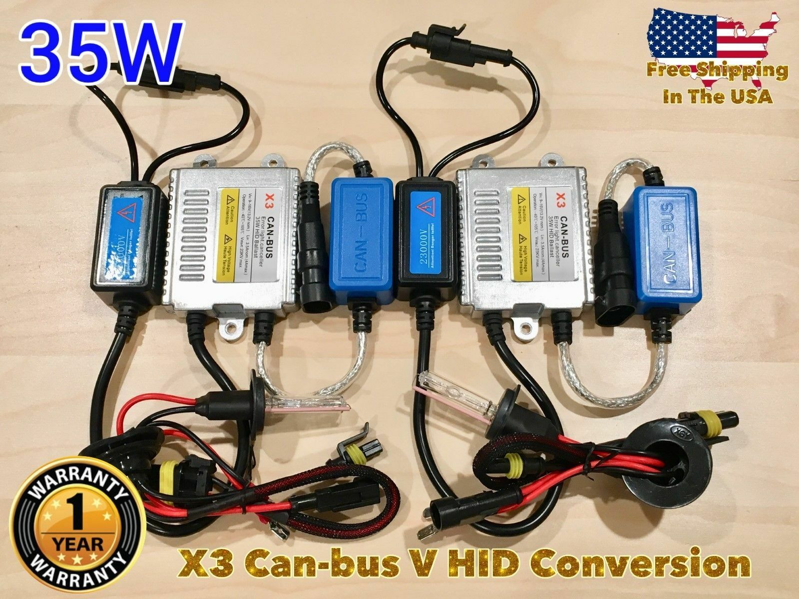 LOW BEAMS H7 35W X3 AC CANBUS HID Xenon No Error Slim KIT 97-03 FOR LEXUS ES300