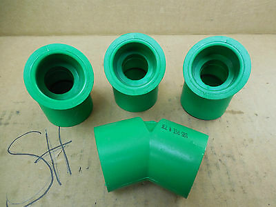 Nibco Green Glue-in 1 45 Elbow Fitting Sch80 185 Psi 73 F Lot Of 4 New