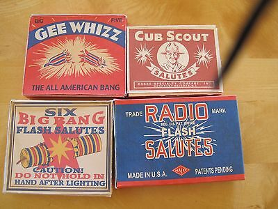 Vintage Fireworks Firecracker Box lot #1.. this Lots REPO of 4 diff