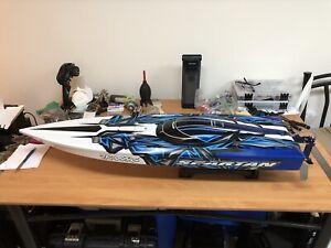 Traxxas Spartan Race Boat Gen 2 a/TSM + 2 new LiPo 3s
