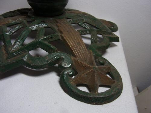 Antique German Iron Christmas Tree Stand Star ca. 1890 #<