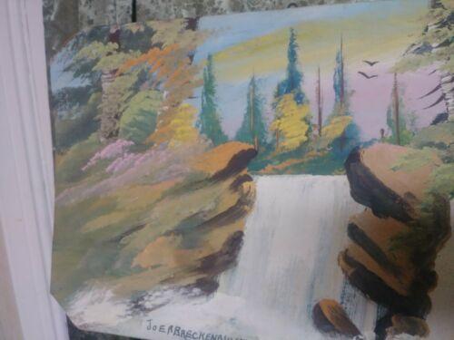 Folk Art Painting On Wood Joe Breckenridge Find Vintage Mid-century Great Colors - $149.00