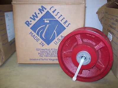 Rwm Casters Iron V-groove Wheel