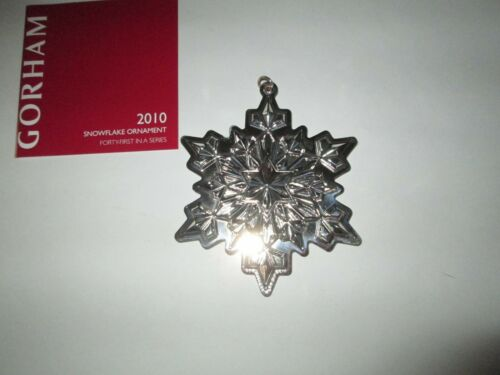Gorham Annual Sterling Silver Snowflake Ornament 2010