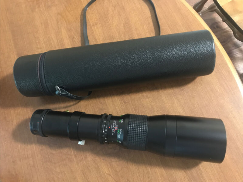 Quantaray Tele 400mm 1:63 lens for Nikon with Case and Cap 11916