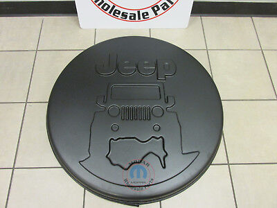 JEEP WRANGLER On The Rocks Logo Hard Spare Tire Cover NEW OEM -