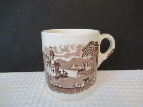 MALING ENGLAND NEWCASTLE ON TYNE BROWN 12oz MUG PREOWNED