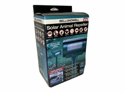 Bell and Howell Solar Animal Repellent Motion Activated ~ New