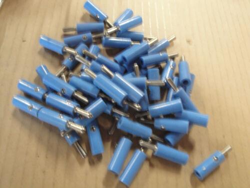 49 Ea American Made Standard Banana Plugs - Blue