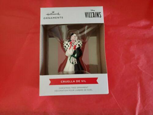 Hallmark 2021 Cruella De Vil Disney Villains 101 Dalmatians Christmas Ornament