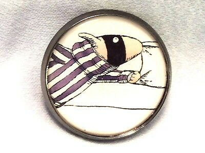 "1"" Edward Gorey Illustration Dog Burglar Literary Nonsense Book Sew Button EG71"