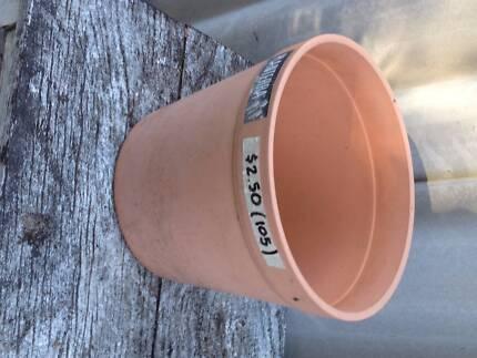 Strong plastic pot - terracotta colour