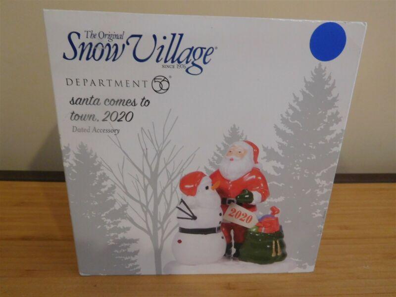 Dept 56 Snow Village - Santa Come To Town, 2020- NIB Free Ship