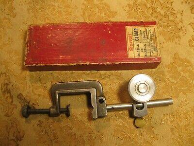 Vintage Starrett 196-g Or 645-g Dial Indicator Gauge Snug Clamp Machinist Tool
