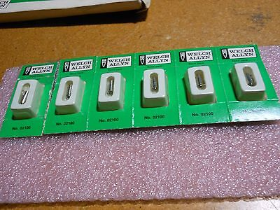 Welch Allyn Incandecent Lamp Box Of 6 Part 02100  Nsn 6240-01-022-9148