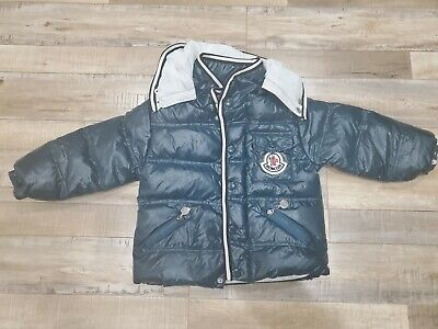 Authentic Kids Moncler Quilted Nylon Hooded Down Jacket Boy or Girl (Green)