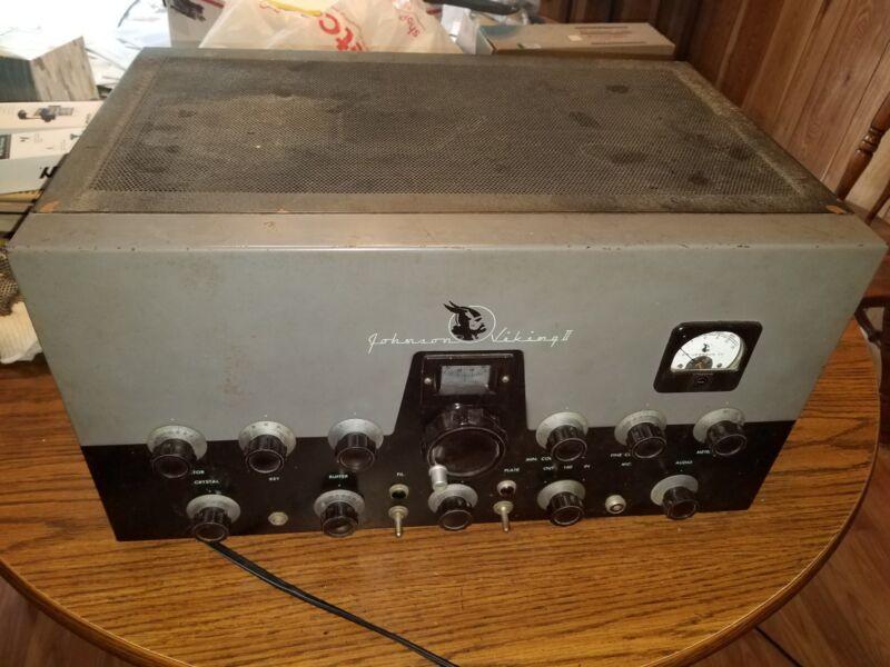 Johnson Viking II Ham Radio Transmitter in Working Condition incudes VFO