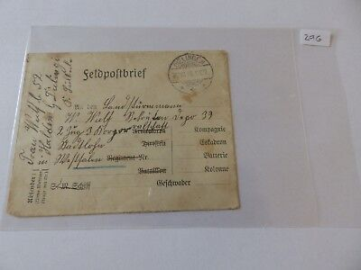 (29G) - 1916 Germany Fieldpost Cover with Dielingen Cancel (no contents)