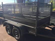 8X5 HI SIDE TANDEM HEAVY DUTY 600MM CAGE 1Y PRIV REGO $2650 Campbelltown Area Preview