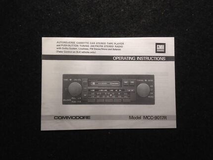 VH VC SLE EUROVOX STEREO MANUAL INSTRUCTION BOOK COMMODORE RADIO SLX