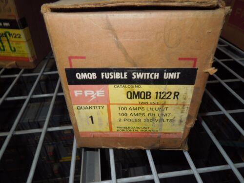 Fpe Qmqb1122r 100a Twin 1ph 2p 240v Fusible Switch Unit New Surplus