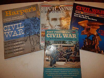4 CIVIL WAR HARPER'S MAGAZINE BROGAN BEST PHOTOS CHRONICLES TIMES