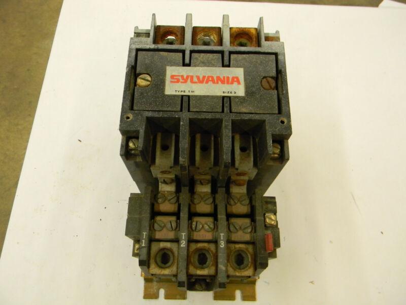Sylvania Motor Starter Type TM Size 3 Contactor T13U033 w/ 90A Trip Unit E7