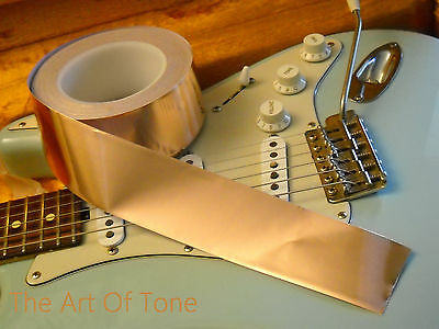 Copper Shielding Tape  6 feet x 2 inches Conductive Adhesive Guitars & Pedals