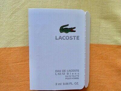 Lacoste L.12.12 Blanc Eau de Toilette Pour Homme 0.06 oz per