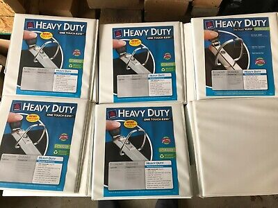 Lot Of 12 Avery White 2 Inch Heavy Duty Binders Ezd