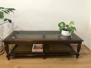 Coffee table in teak and glass | Coffee Tables | Gumtree ...