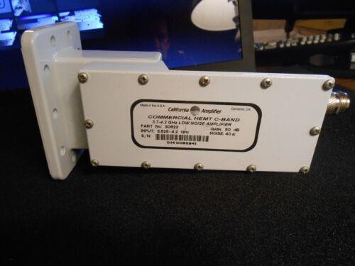 California Amplifier Commercial Hemt C-band 3.625-4.2 Ghz Lna 40k 50db 30622