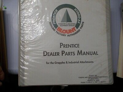 Prentice Hydro Ax Grapples And Industrial Attachments Parts Manual