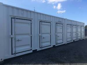 Storage container spaces for rental. 1/4 secure space. Ormeau