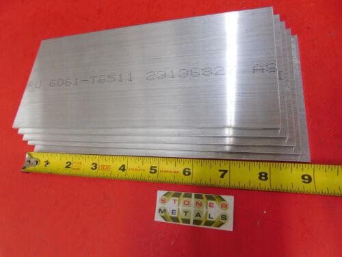 "5 Pieces 1/8"" X 4"" ALUMINUM 6061 Rectangle BAR 9"" long Plate New Mill Stock .125"