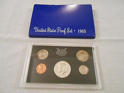 COINS:US Proof Set 1968/5 coins:Penny/Nickel/Dime/Quarter/Half-Dollar