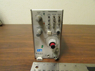 Tektronix 7b80 Oscilloscope Plug-in Time Base Tested Good