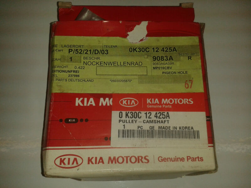 KIA+PART+NUMBER+0K30C12425A+-+PULLY-CAMSHAFT