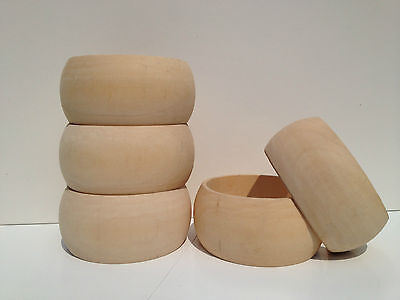 10 Unfinished plain natural wood bangles bracelet DIY Wholesale Lot