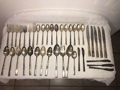 Vintage Oneida Community Morning Star Silver Plate Silverware Large Dinner Fork