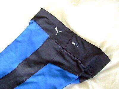 Puma Dry Cell Leggings, Blue/Black Colour, Medium, Excellent Used Condition