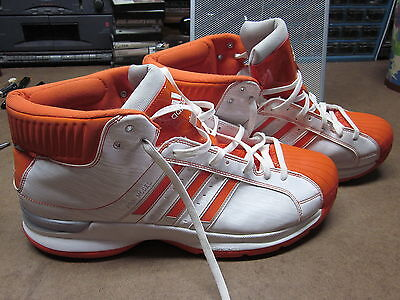 ADIDAS orange retro high top OG tennis shoes 2008 old-school basketball size 18